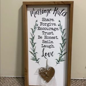 Marriage Rules wood home decor